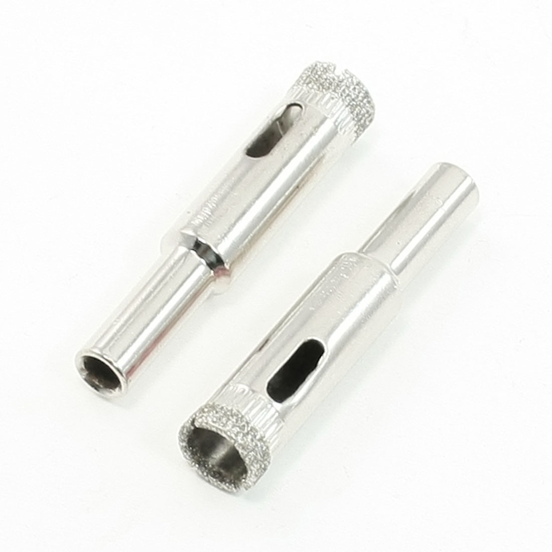 6.5mm Dia Shaft 10mm Cutting Dia Tile Glass Hole Saw 2 PCS