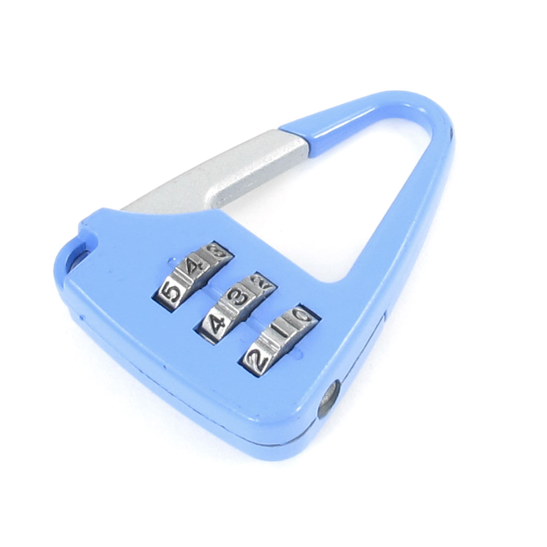 Light Blue Metallic Handbag Design 3 Digit 0-9 Number Combination Lock Padlock