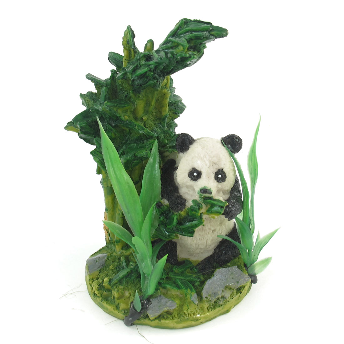 "Resin Panda Bamboo Water Grass Design Aquarium Fishtank Ornament 4.7"" Height"
