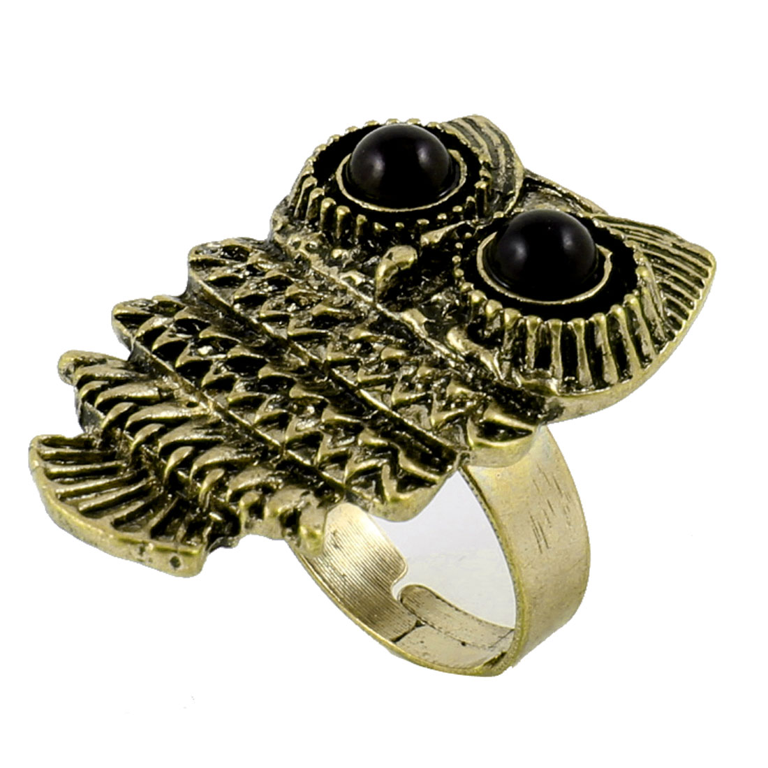Bronze Tone Metal Owl Design US 6 1/2 Finger Ring for Ladies