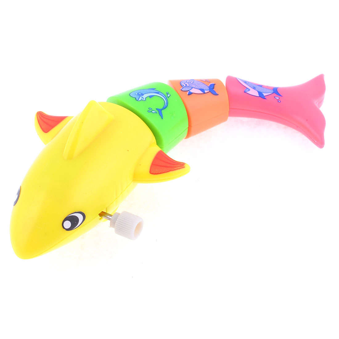 Colorful Plastic Flexible Body Wind Up Dolphin Toys for Children