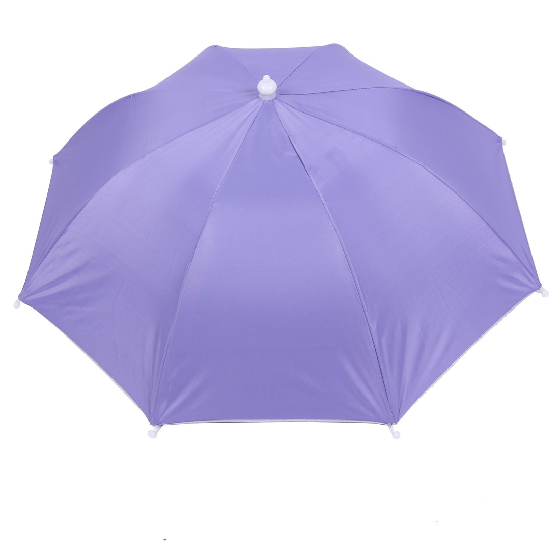 Fishing Camping Pale Blue Polyester Elastic Band Foldable Sun Umbrella Hat