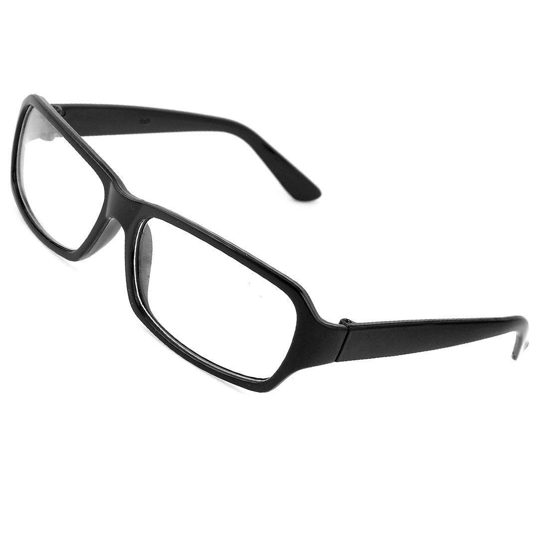 Unisex Black Plastic Full Frame Plain Eyewear Eyeglasses