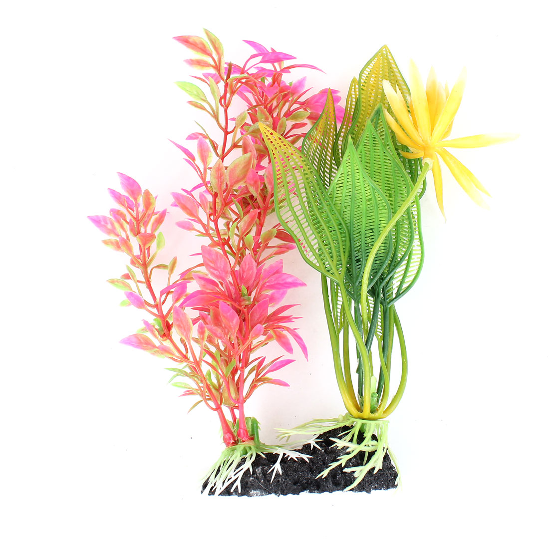Yellow Dark Pink Green Simulation Water Plants for Fish Tank Decoration