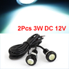 2pcs 3W Ice Blue LED Eagle Eye Van Truck Car DRL Day Time Running Light