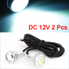"2pcs 0.7"" Dia 3W Ice Blue LED Eagle Eye Van Truck Car DRL Day Time Running Light"