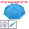 Travel Camping Blue Polyester Foldable Sun Umbrella Hat