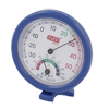 "Measuring Tool 2.8"" Dia Round Shape Dial Thermometer Hygrometer White Blue"
