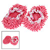 Pink Multifunction Floor House Cleaning Mop Slippers Shoes Pair