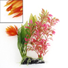 18cm Height Dark Pink Green Orange Plastic Water Grass for Fish Tank Decor