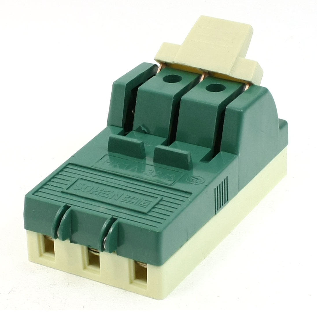 AC 380V 32A 3 Pole Single Throw Circuit Control Closing Disconnect Switch Green