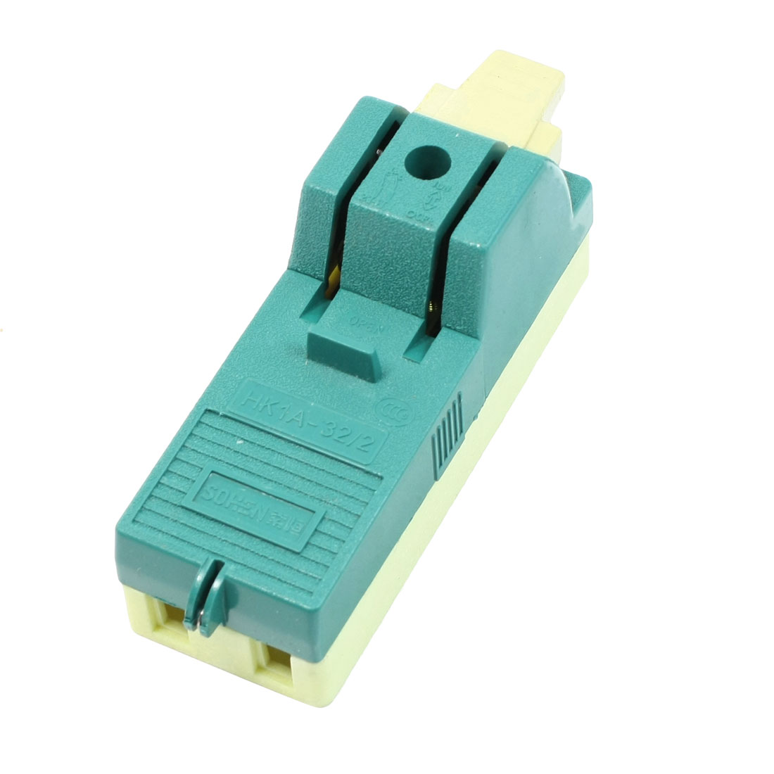 AC 250V 32A 2 Pole Single Throw Circuit Control Closing Disconnect Switch Green