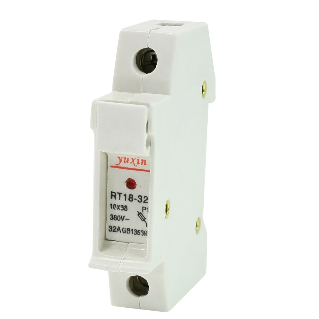 RT18-32 AC 380VV 32A 1 Pole 1P 10x38mm Cylindrical Fuse Holder Socket