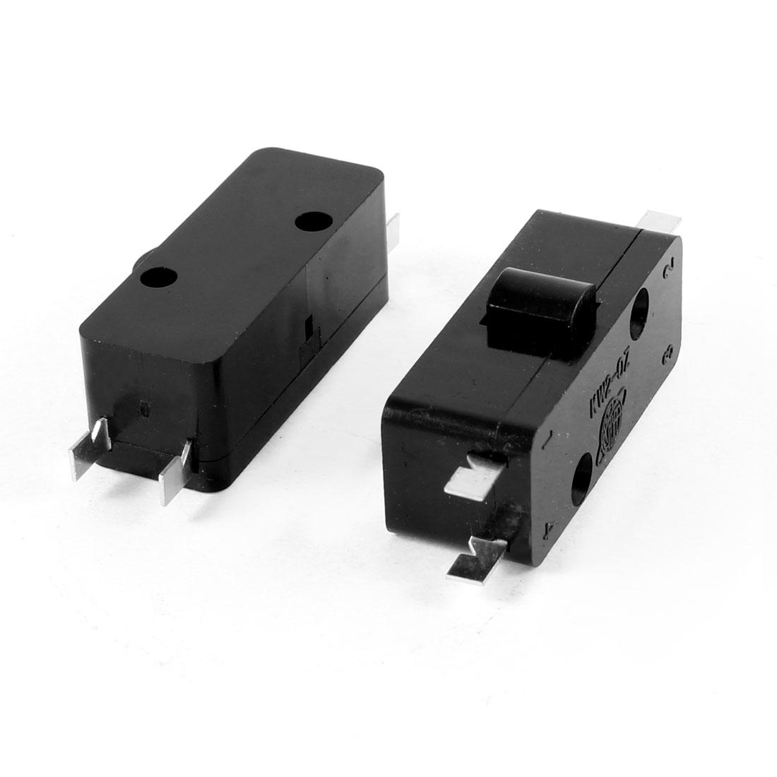 2 Pcs AC 250V/3A 125V/5A SPDT 4-Pin Push Button Actuator Mini Micro Switch
