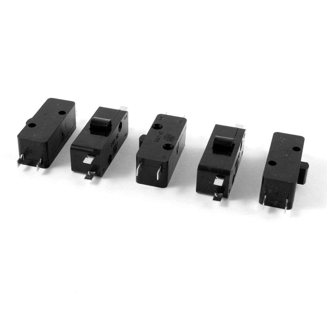 5 Pcs AC 250V/3A 125V/5A SPDT 4 Terminals Push Button Mini Micro Switch