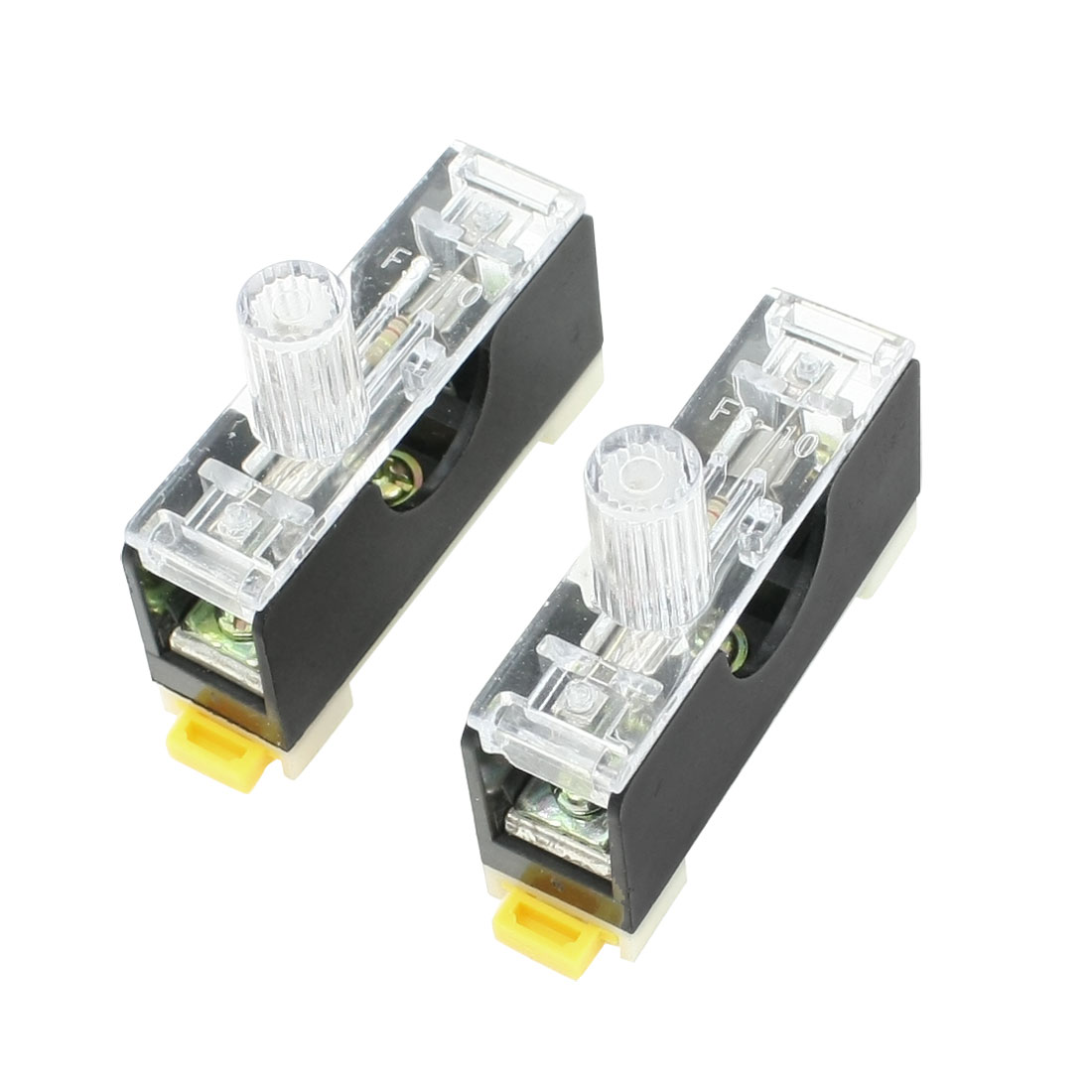 2 Pcs FS-10 AC 250V 10A 1 Pole 6x30mm Fuse Holder Base
