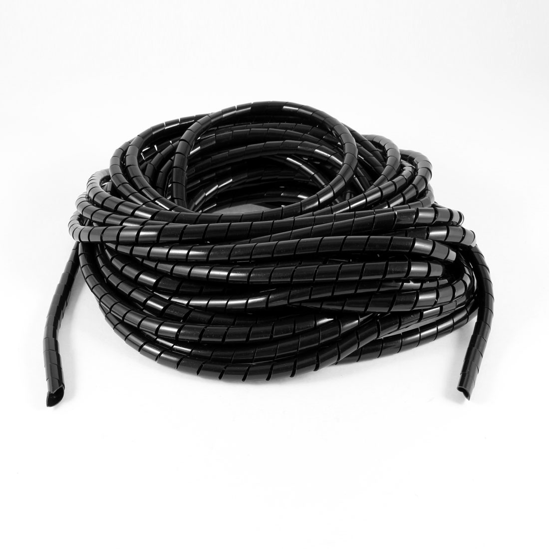 14Meter Long PE Polyethylene 8mm Spiral Cable Wire Wrap Tube Black