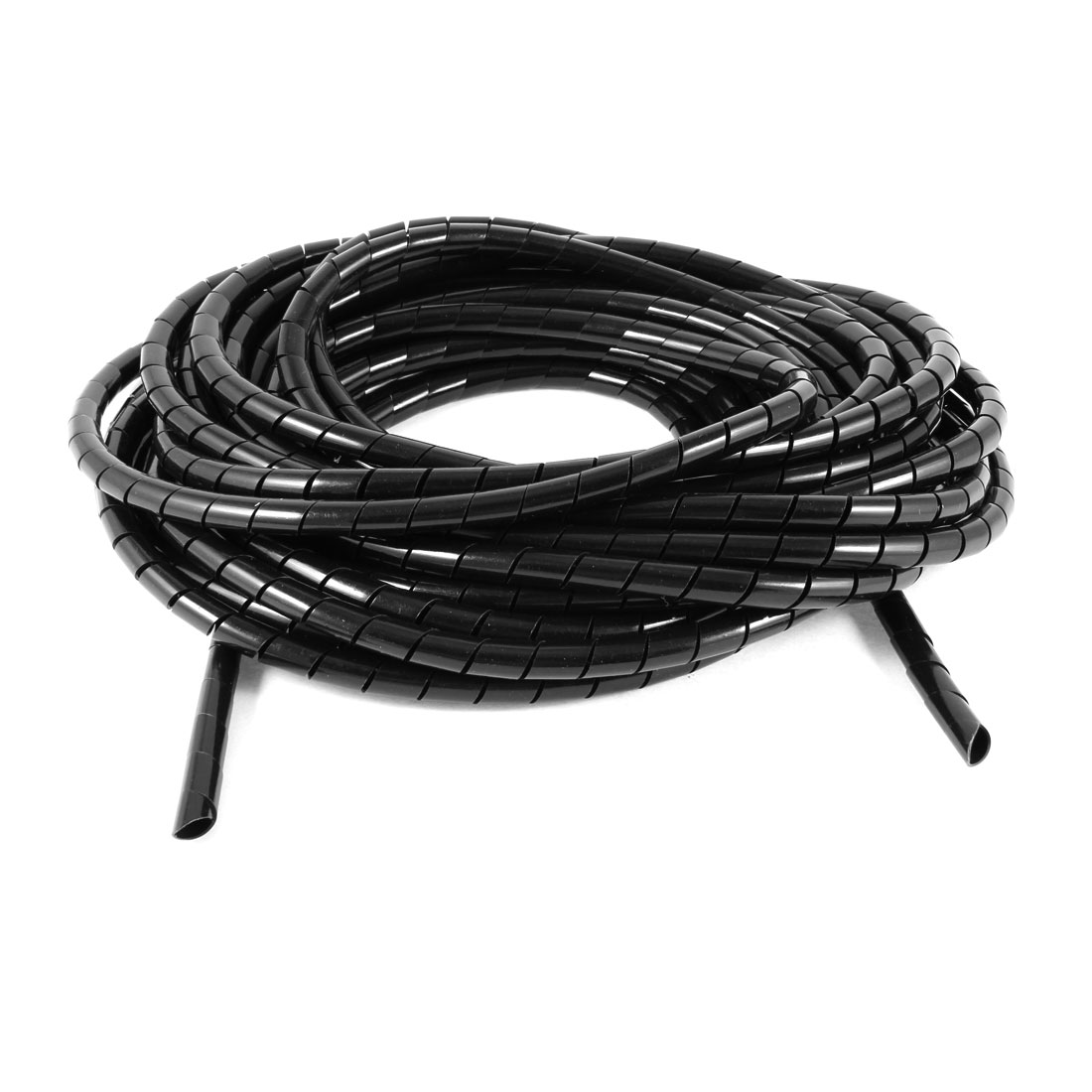 10Meter Long PE Polyethylene 10mm Spiral Cable Wire Wrap Tube Black