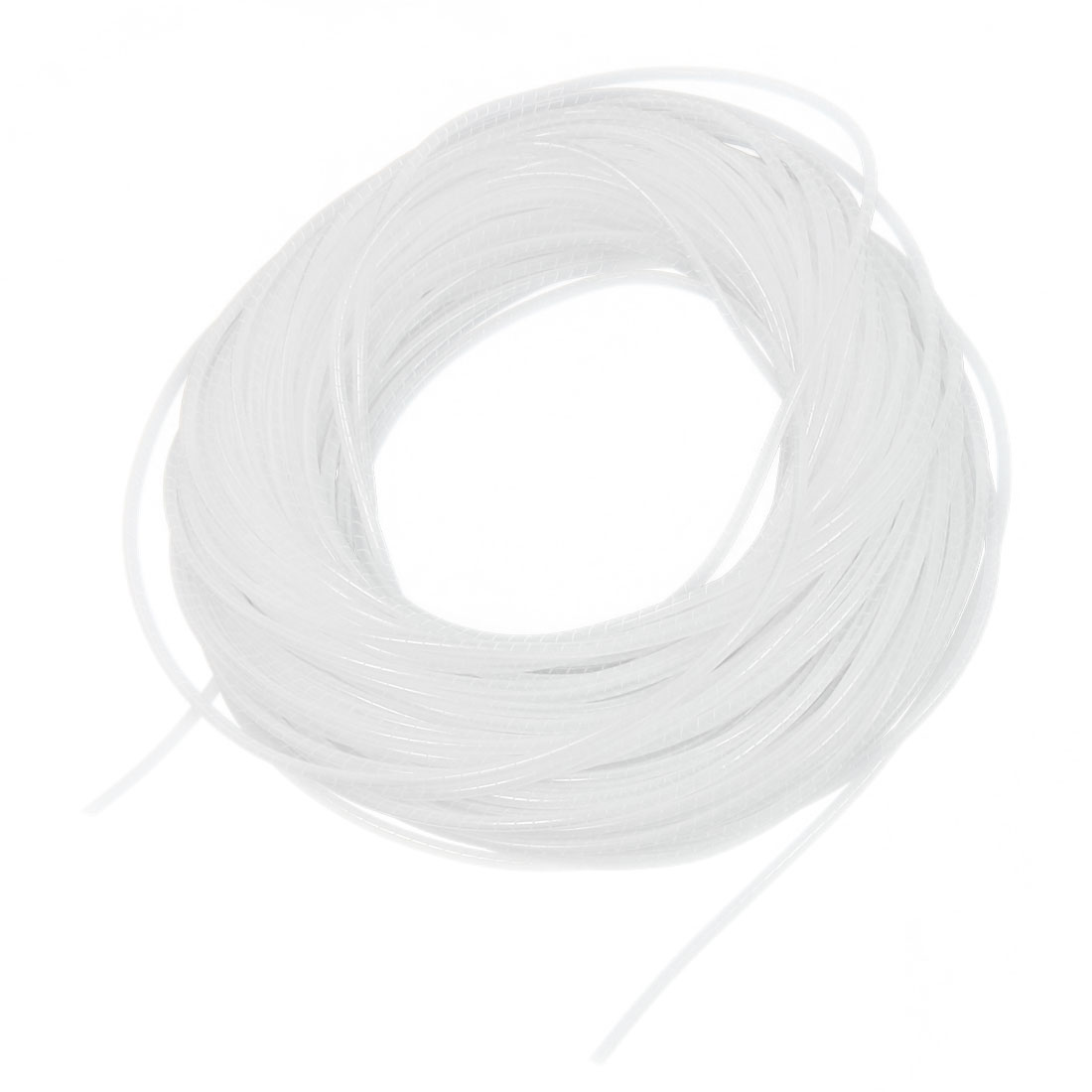 34Meter Long PE Polyethylene 4mm Spiral Cable Wire Wrap Tube White