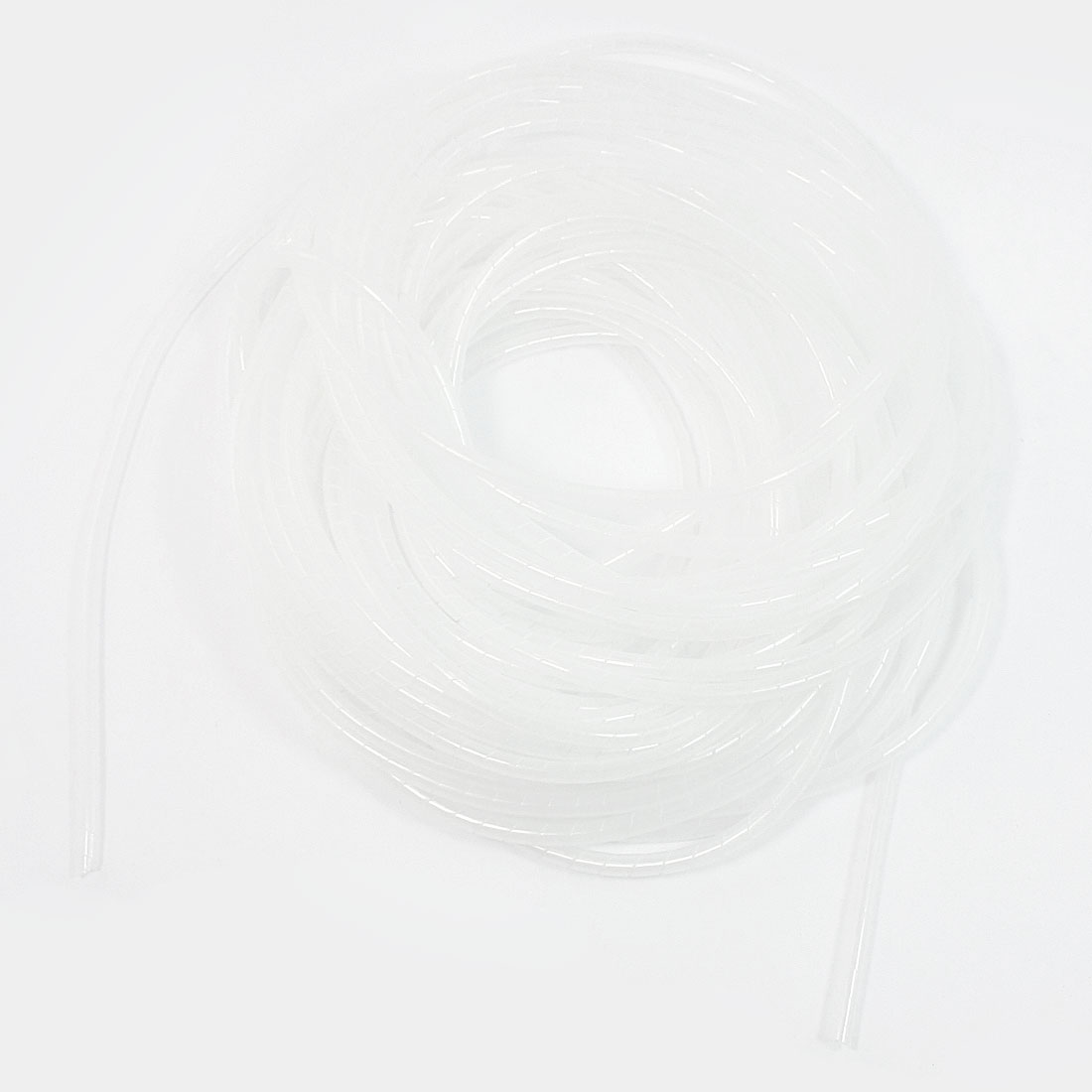 19Meter Long PE Polyethylene 6mm Spiral Cable Wire Wrap Tube White