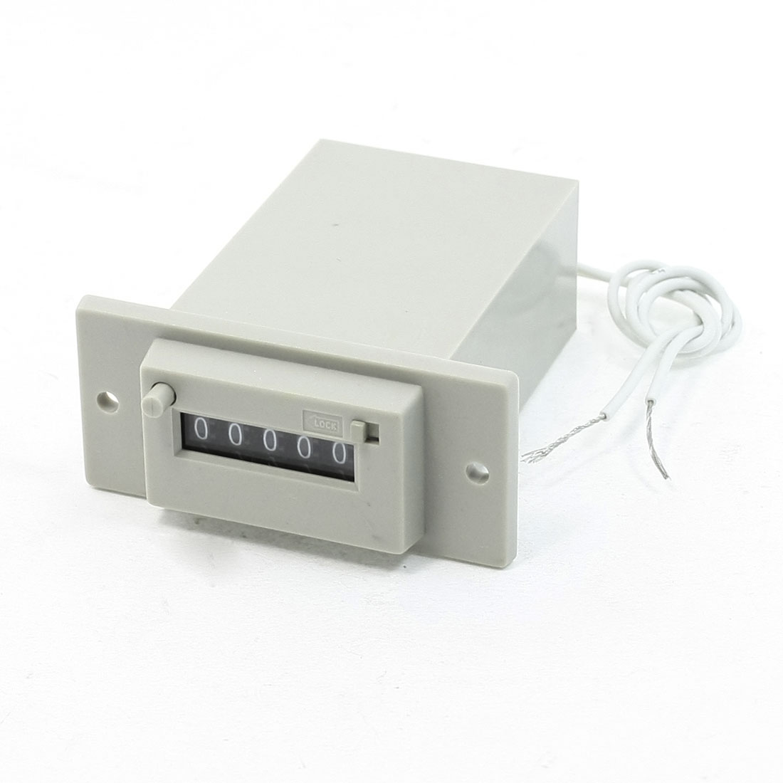 CSK5-CKW AC 220V 50/60Hz 5 Digits 2-Wire Lockable Electronmagnetic Counter