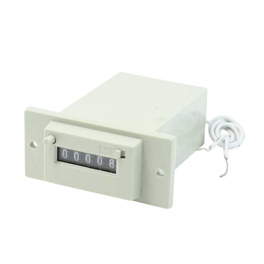 CSK5-CKW DC 24V 5 Digits 2 White Wire Lockable Electronmagnetic Counter