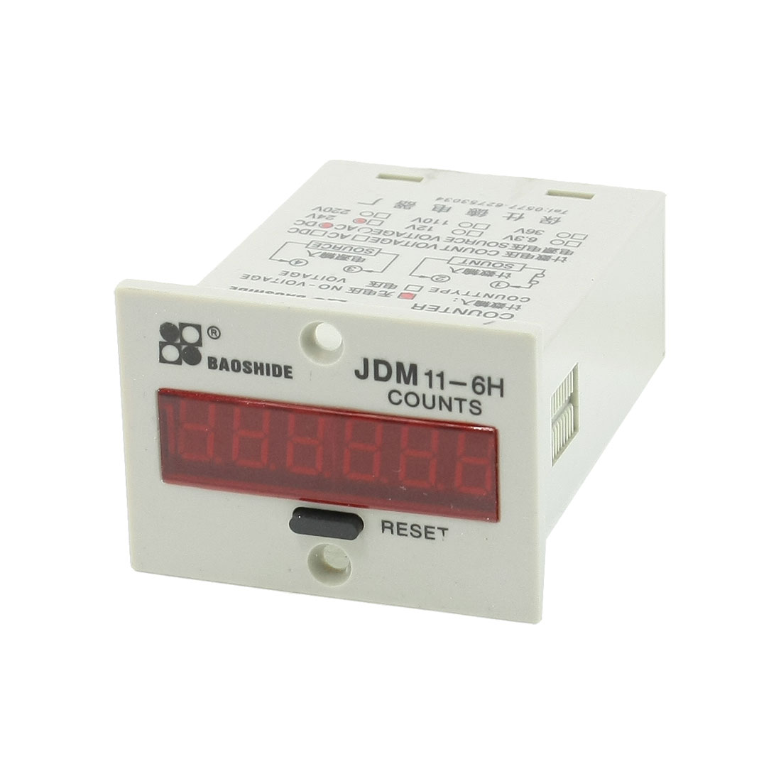 JDM11-6H DC 24V Resettable 6 Digits LED Display Electric Digital Counter