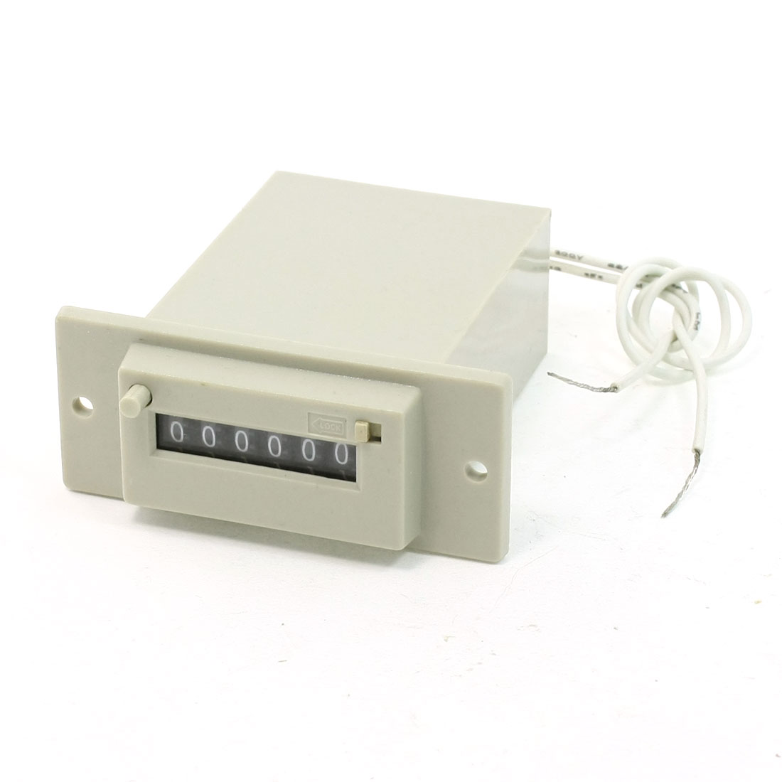 CSK6-DKW DC 24V 6 Digits 2 White Wire Lockable Electronmagnetic Counter