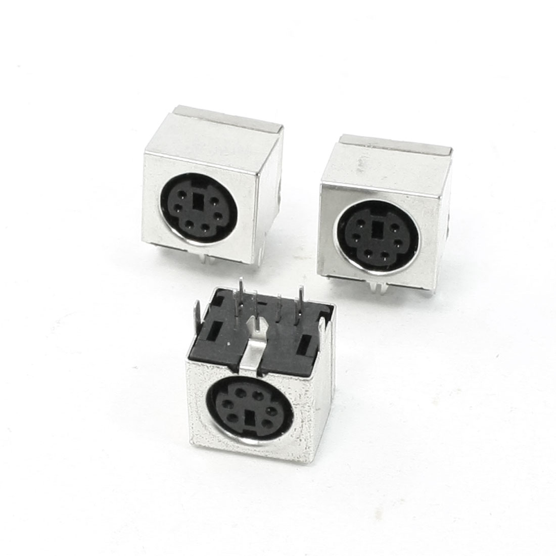 PCB Mounting 6 Mini Pin Female S-video Adapter Sockets Connectors 3 Pcs