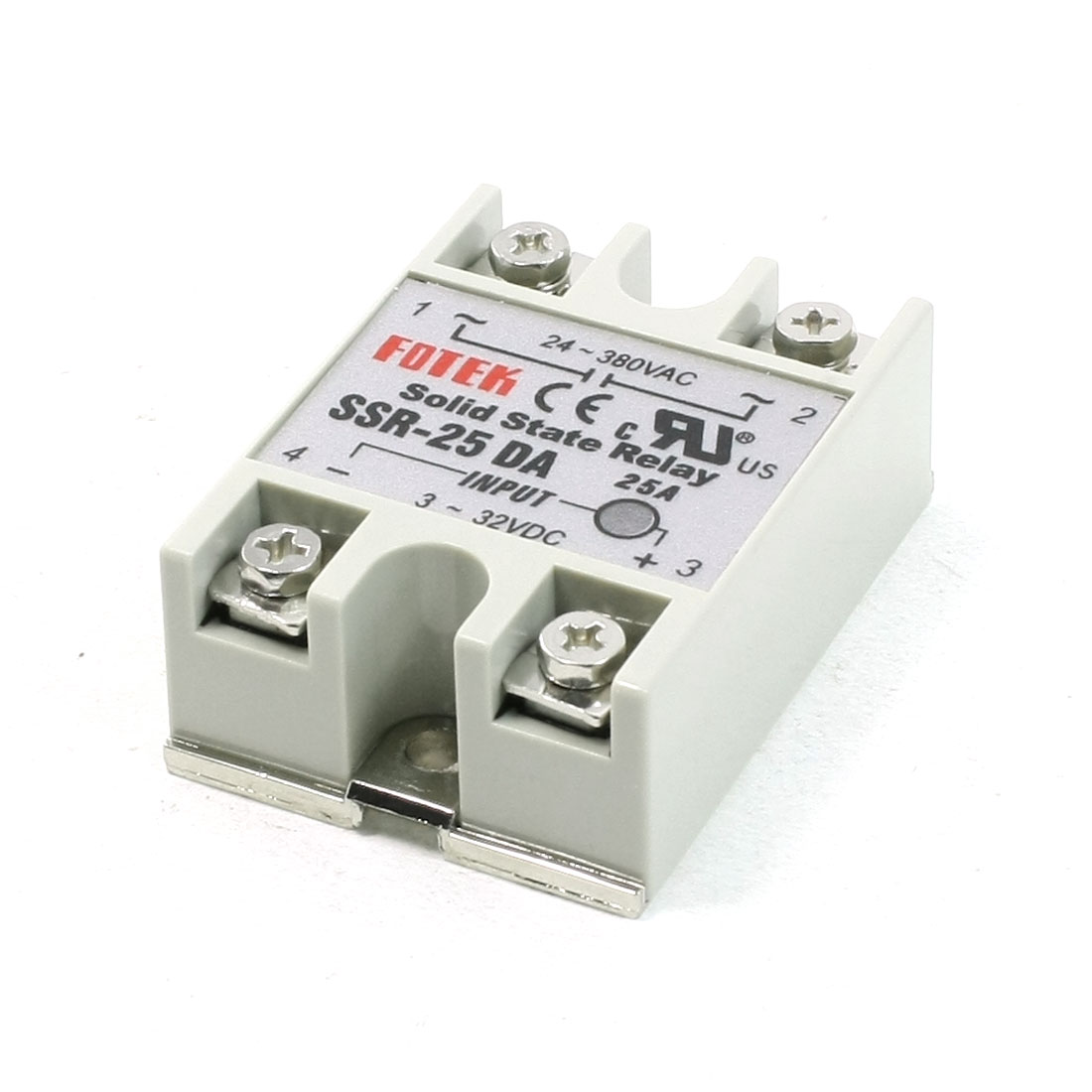 SSR-25DA Model DC Input AC Output Solid State Relay 24-380VAC 3-32VDC