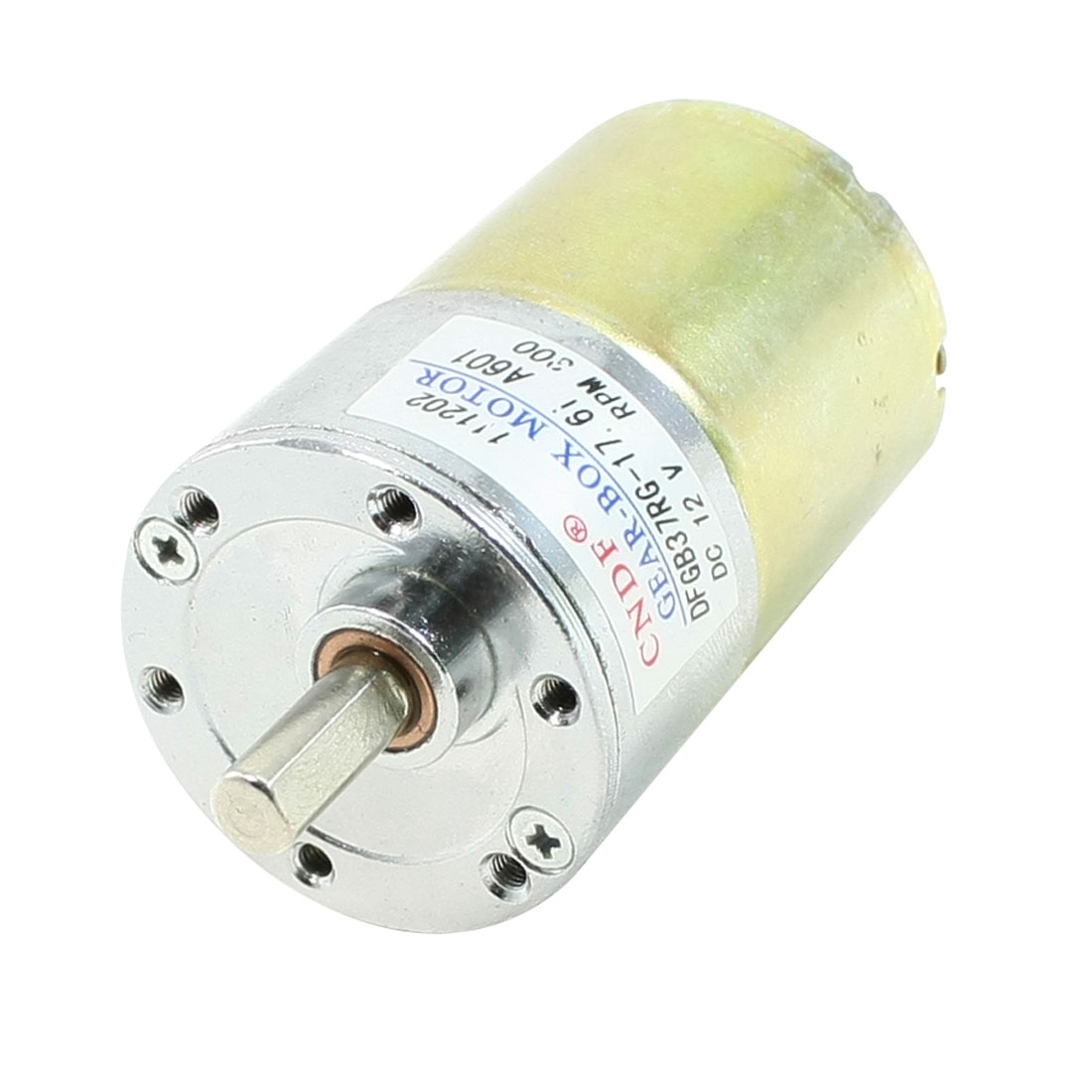 DC 12V 300RPM 37mm Dia Electric Speed Reducing Mini Gearbox Motor