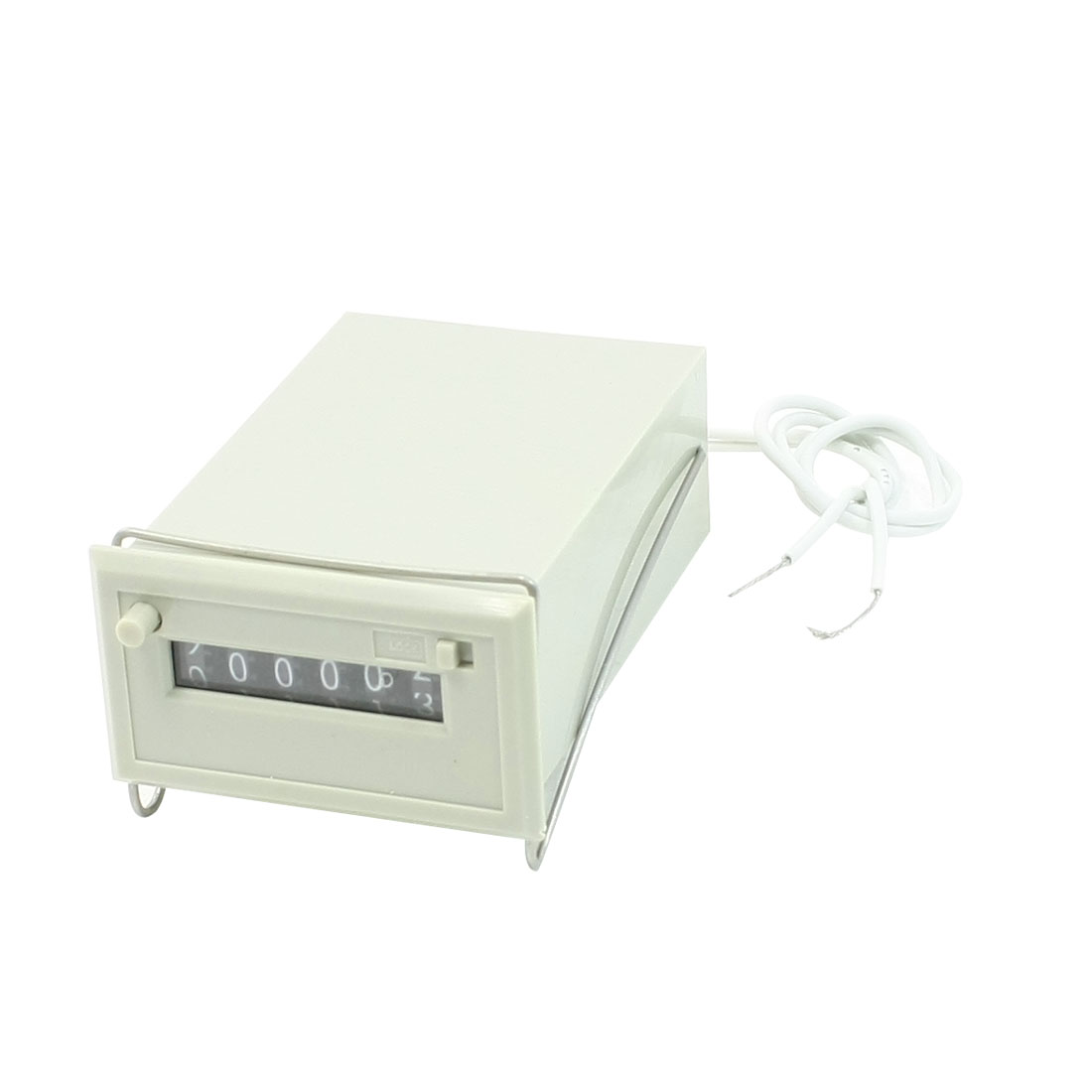 CSK6-CKW AC 220V 6 Digits 2 White Wire Lockable Electronmagnetic Counter