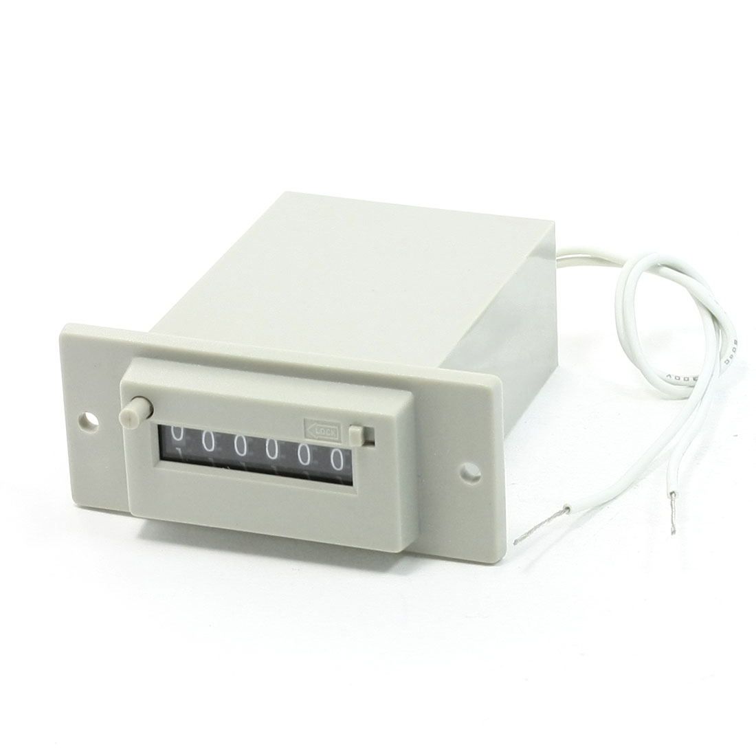 CSK6-DKW AC 220V 50/60Hz 6 Digits 2-Wire Lockable Electronmagnetic Counter