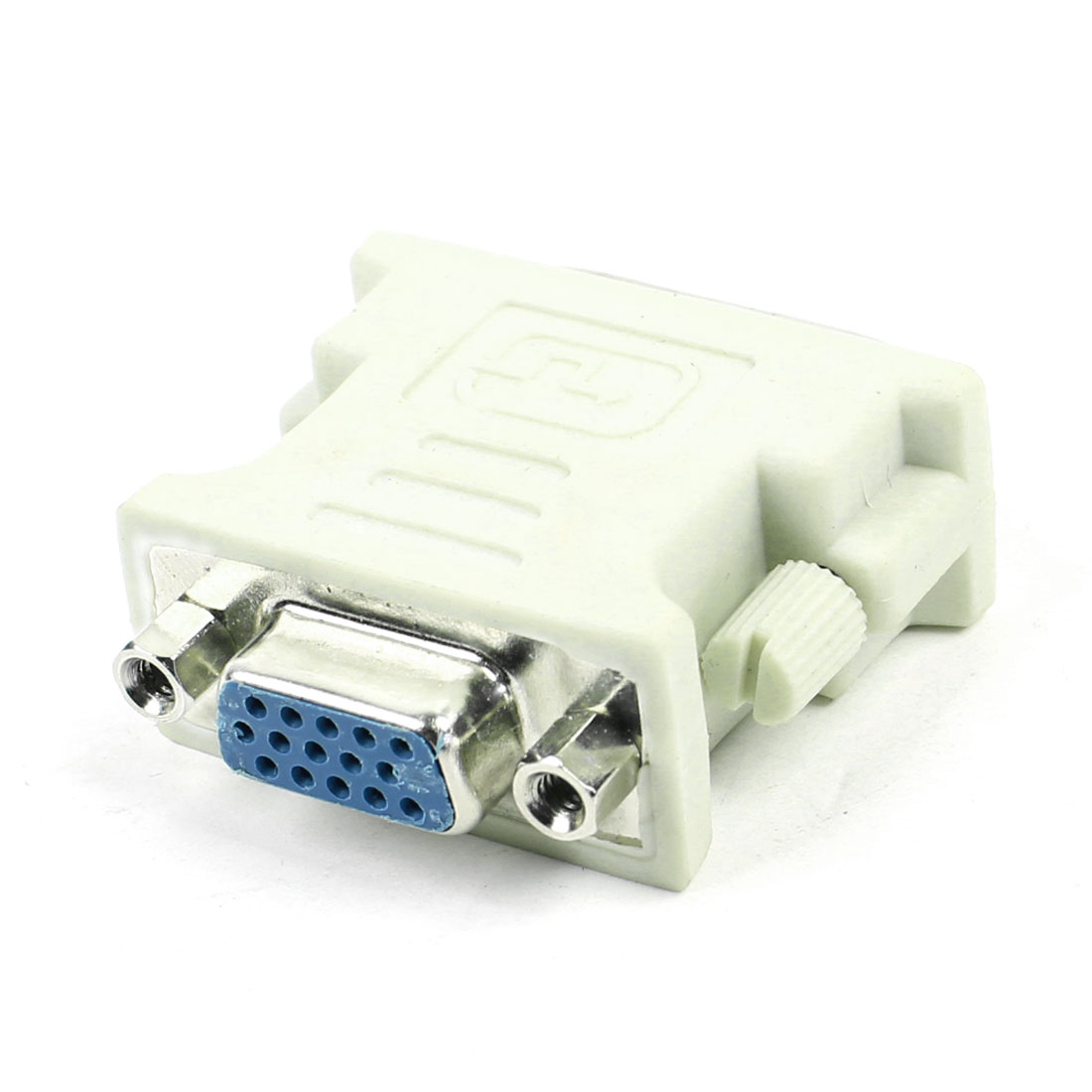 Off White DVI-I 24+5 Pin Male Dual Link to VGA 15 Pin Female Adapter