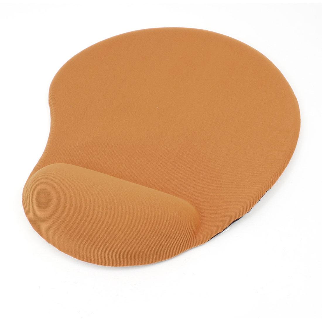 Orange Silicone Gel Wrist Rest Mouse Pad Mat for Laptop Desktop PC
