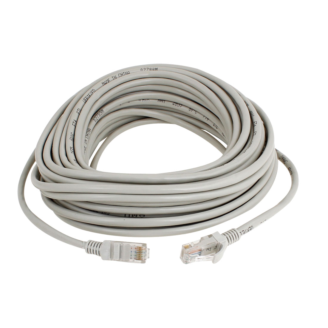 49.2 ft RJ45 Cat5e UTP Ethernet LAN Network Patch Cable Wire Gray 15m
