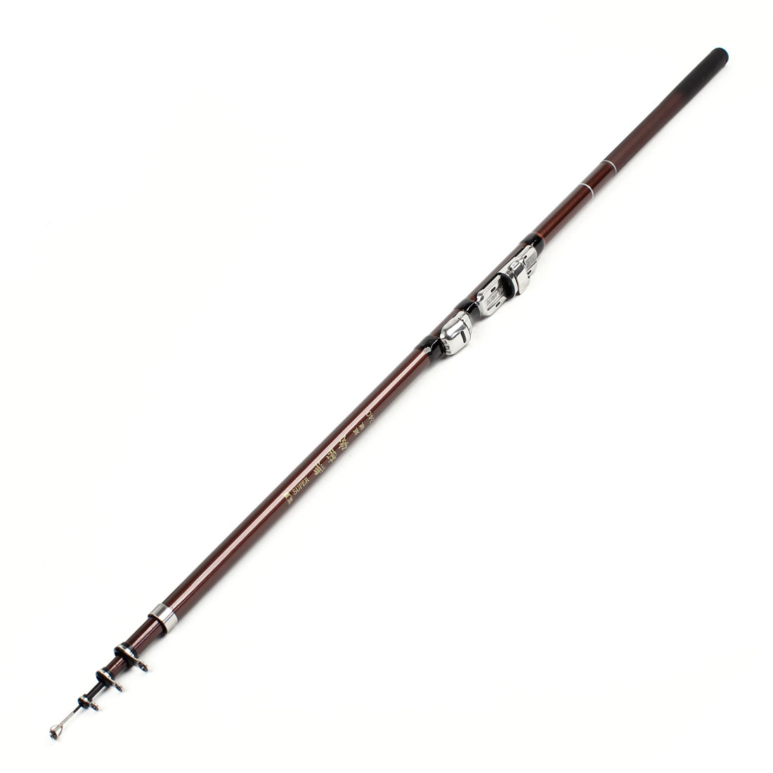 Portable Burgundy Carbon Fiber Telescopic 5 Section 7.5Ft Length Fishing Rod