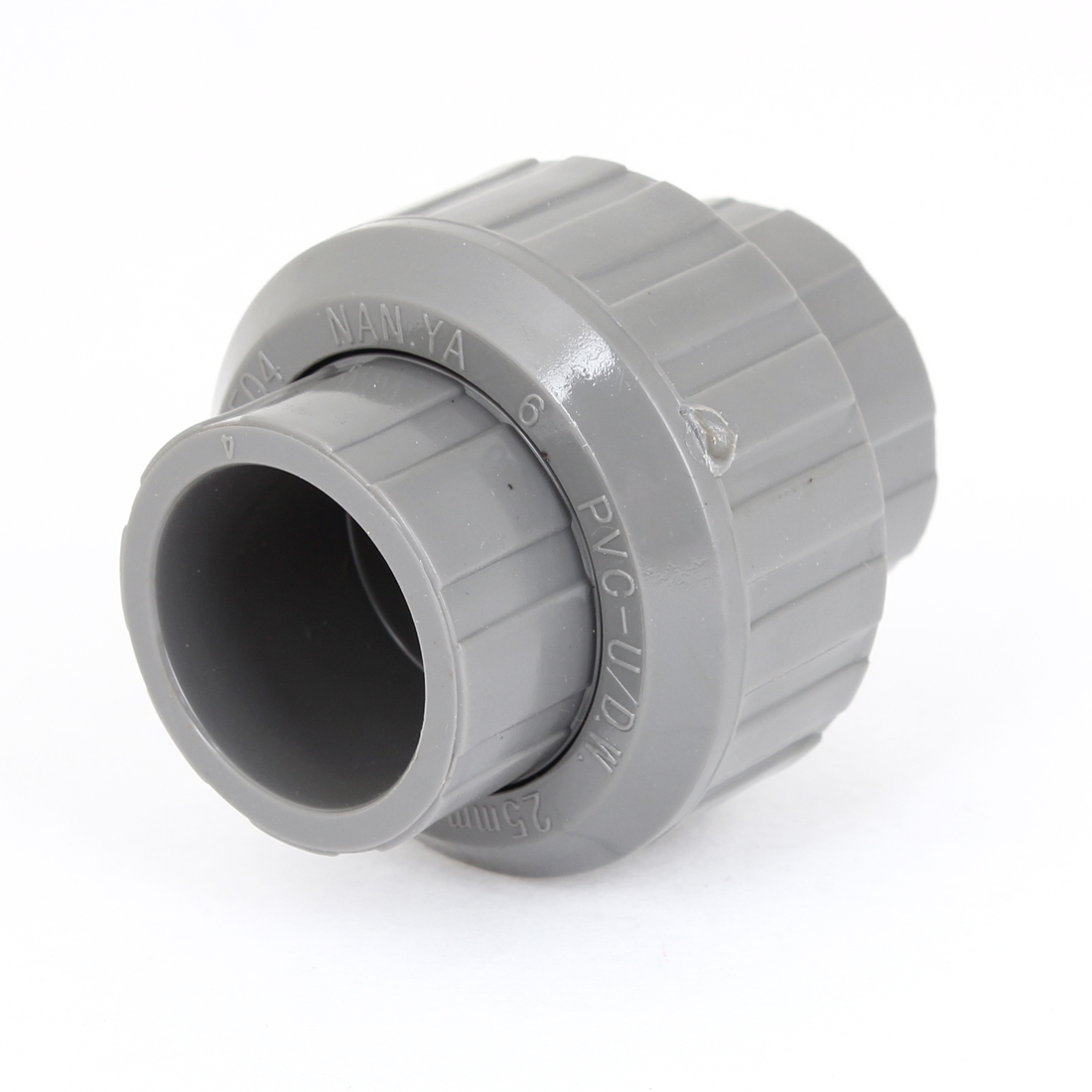 "Replacement 25mm 0.98"" Hole Dia Gray PVC Plastic Water Pipe Tube Adapter"