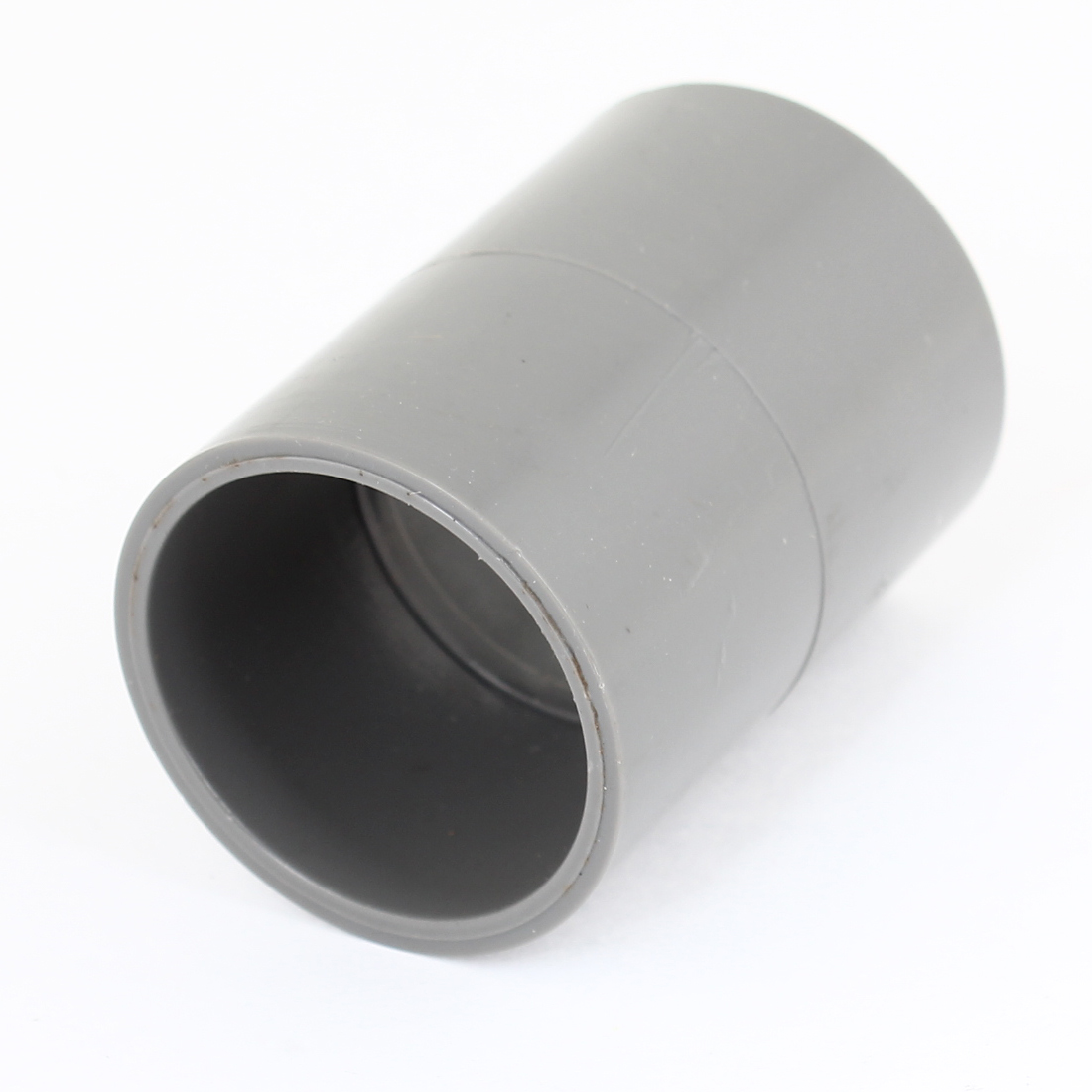 "Gray 32mm 1.26"" Inner Diameter PVC Drainage Straight Pipe Connector"