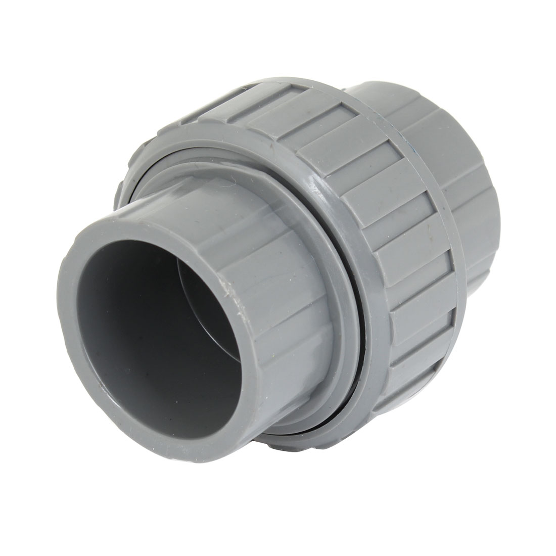 32mm Inner Diameter Male Adapter PVC Pipe Fitting Straight Connector Gray