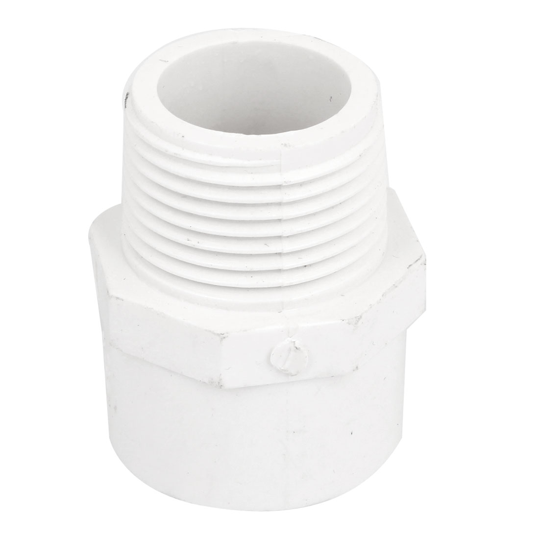 32mm Male Threaded PVC Straight Water Hose Piping Connectors Coupler White