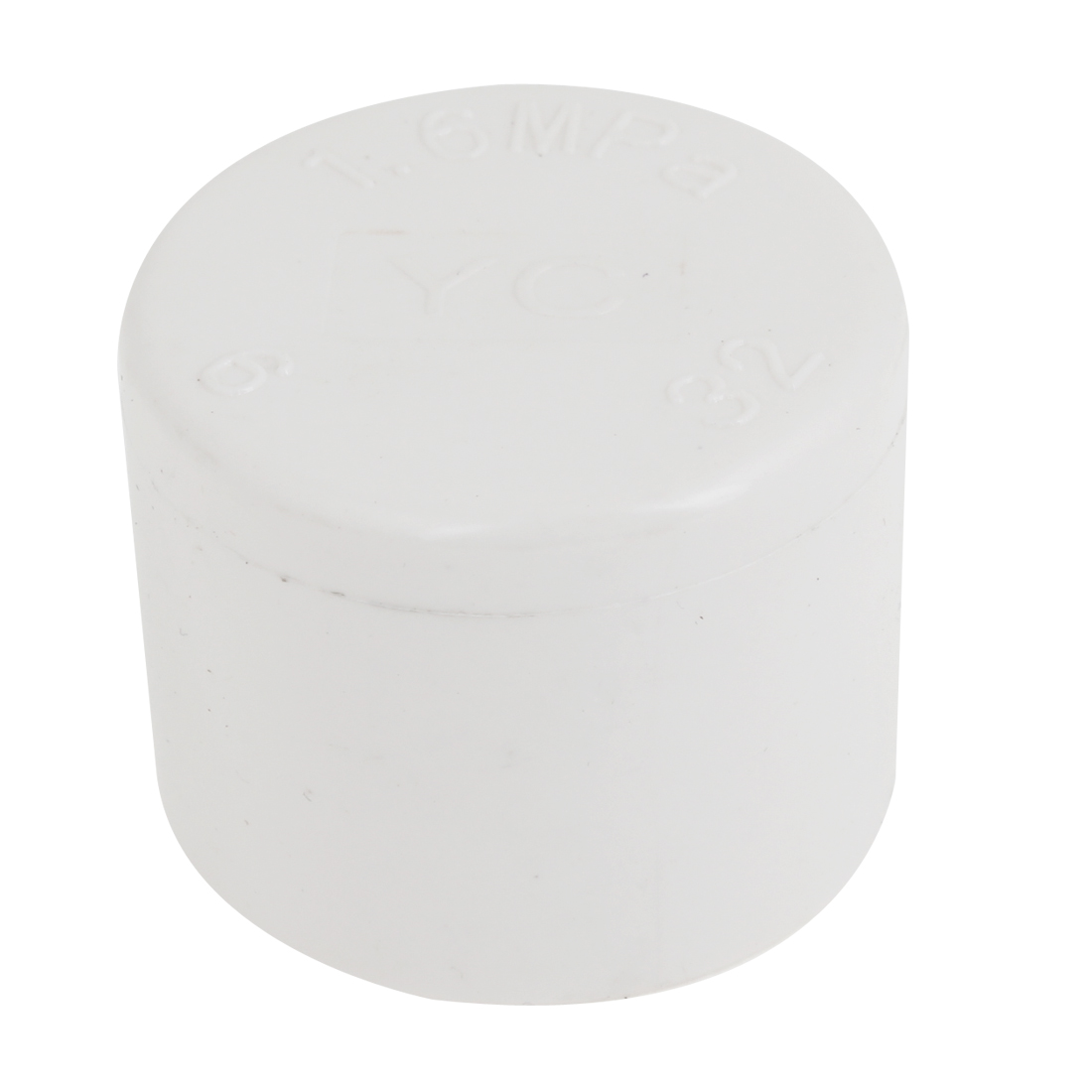 32mm Inner Diameter White PVC Hose Tube End Fitting Adapter Cap