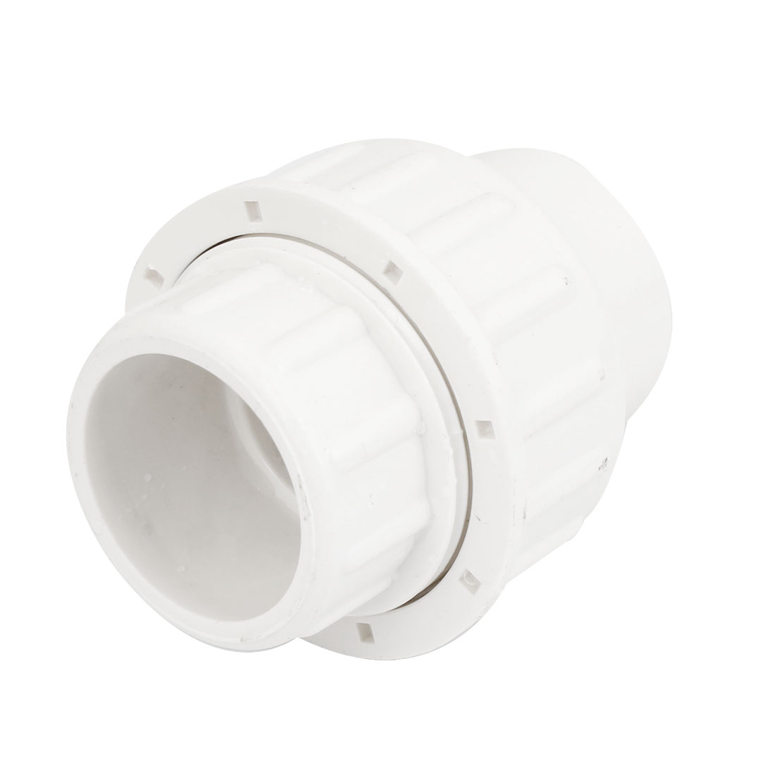 White PVC Plastic Pipe Adapter Connector Coupler 32mm x 32mm for Water Supply