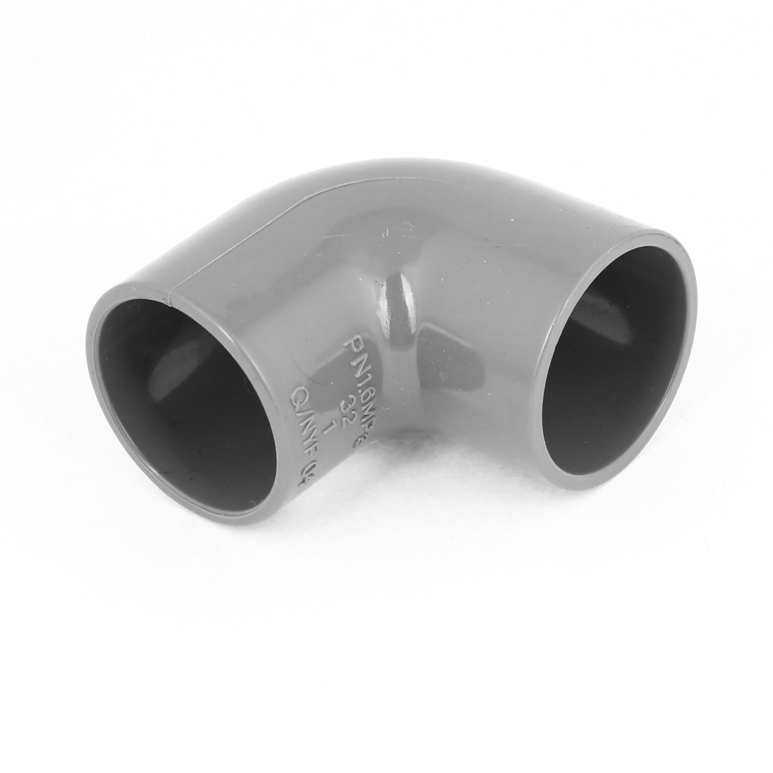 Gray 90 Degree Elbow PVC 32mm Inner Diameter Wire Pipe Connector Fitting