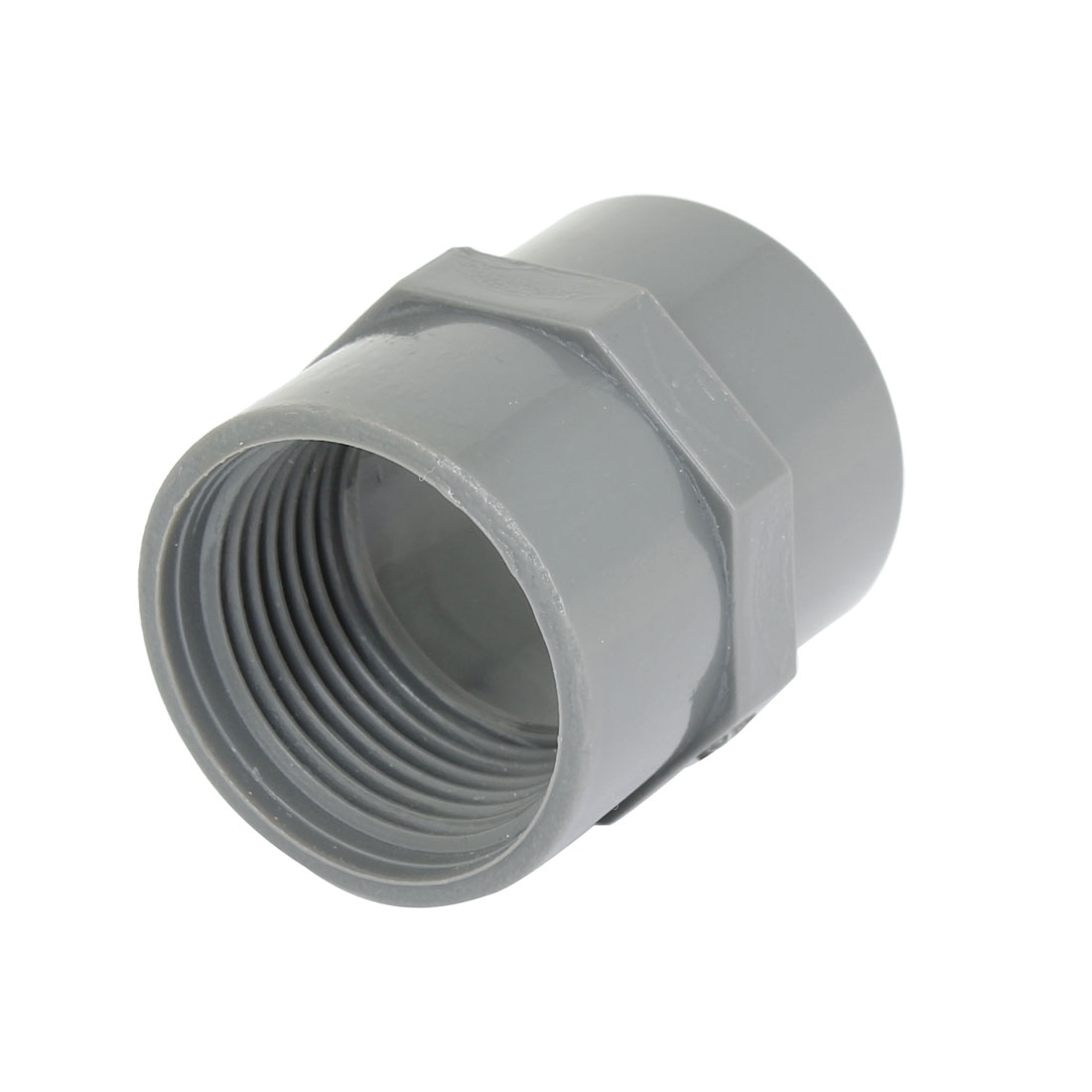32mm Female Thread Gray Straight Water Hose Pipe Fitting Connector