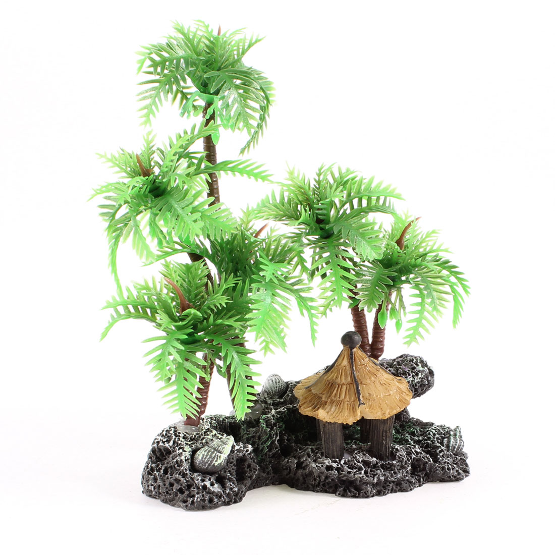 "Fish Tank Aquarium Aquascaping 4"" High Green Simulation Coconut Tree"