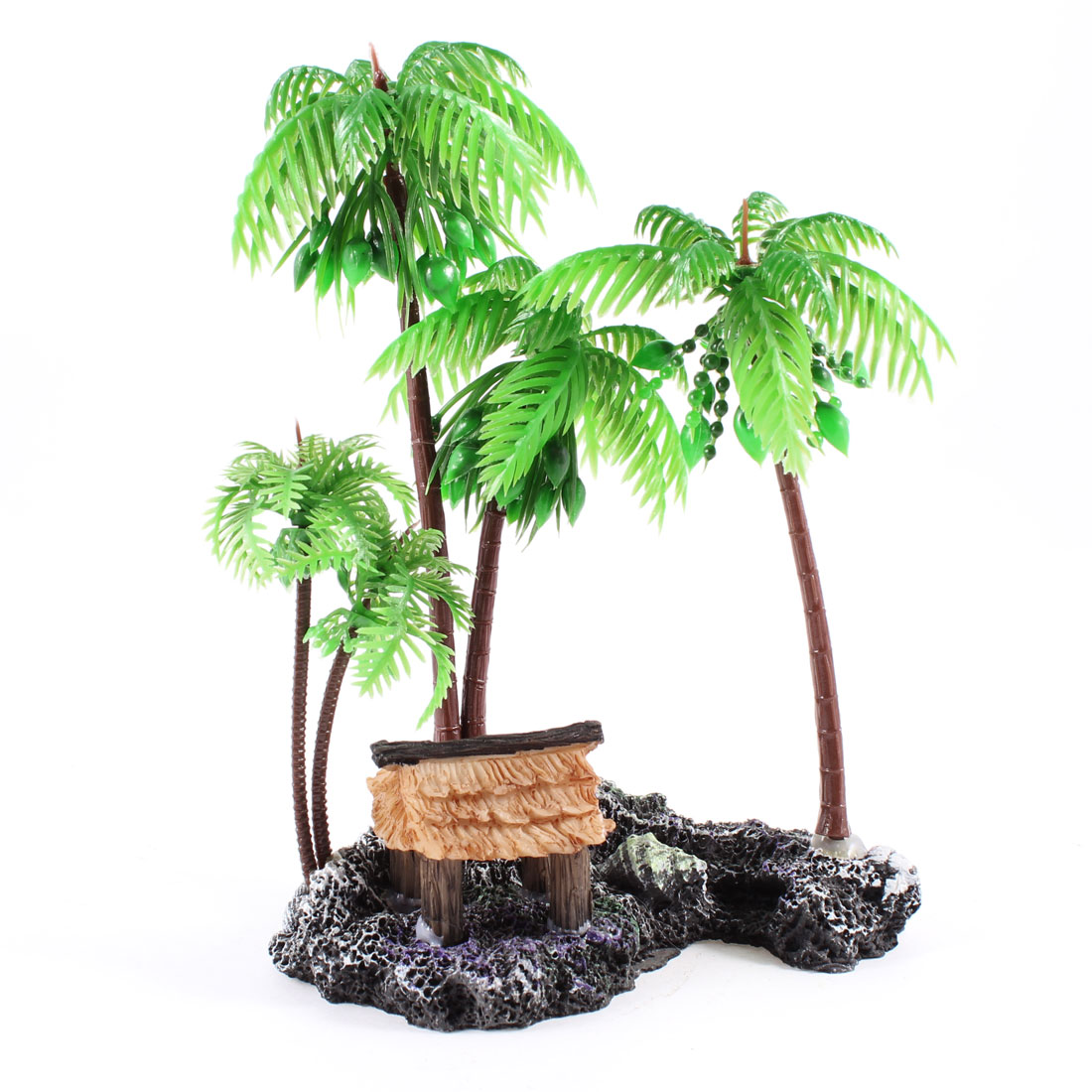 "6.5"" High Plastic Coconut Tree Shape Emulational Underwater Plant for Fish Tank"