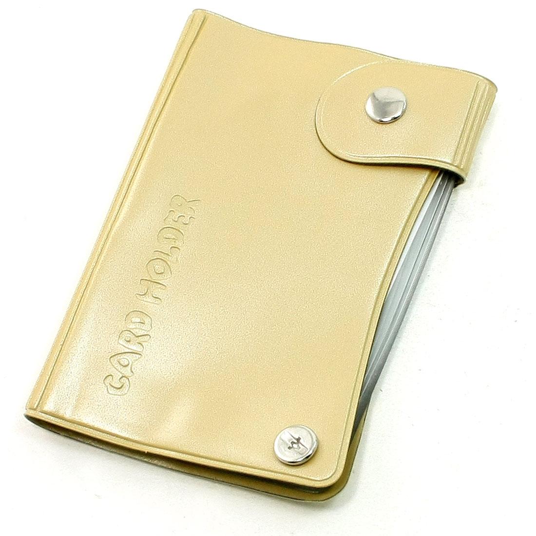 Light Brown Plastic Fit Size 9 x 6cm Multi Cards Holder