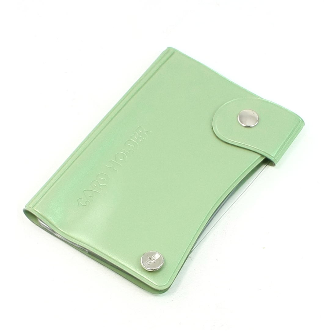 Green Plastic Fit Size 9 x 6cm Multiple Layers Cards Holder