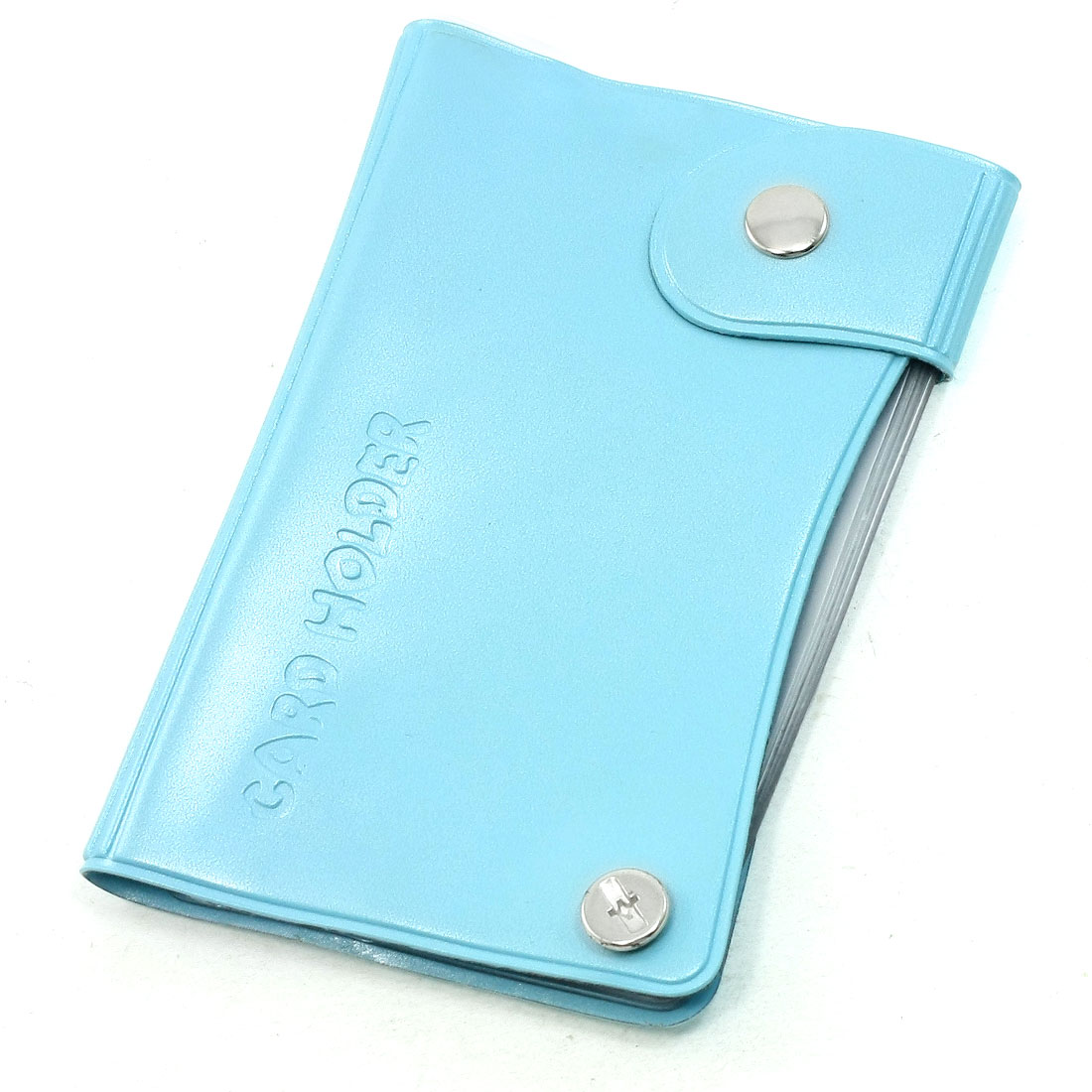 Blue Plastic Fit Size 9 x 6cm Card Holder for Business People